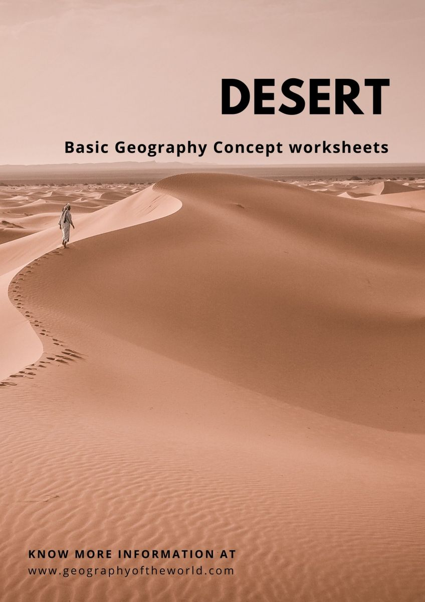Desert worksheets geography questions and answers printables pdf