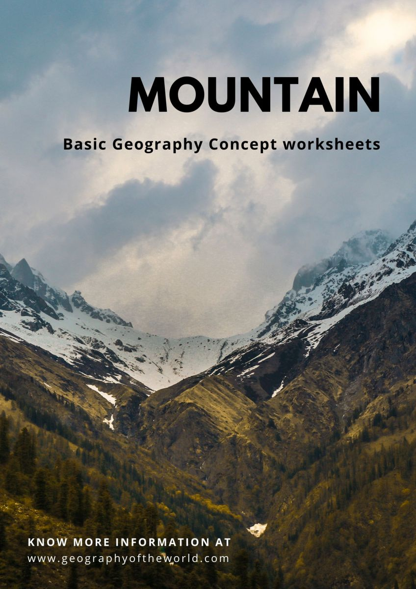 Free printable mountain worksheet answers geography pdf