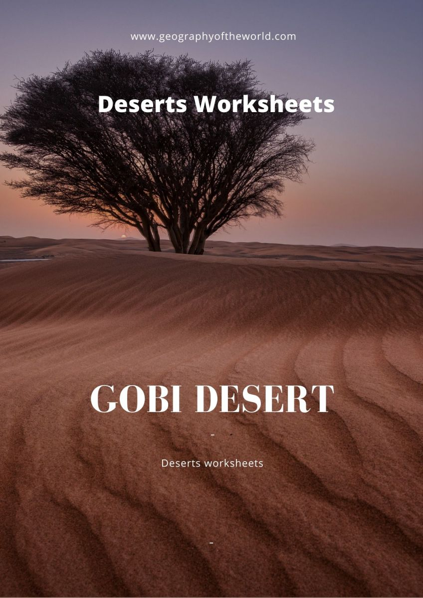 Gobi Desert geography answers worksheet