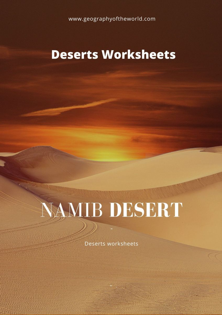 Namib desert facts geography worksheet answers