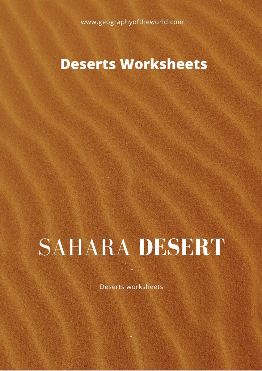 Sahara desert of Africa geography printable worksheet