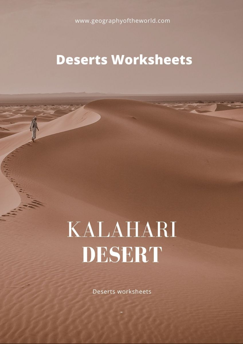 The Kalahari Desert facts of Africa worksheet answers