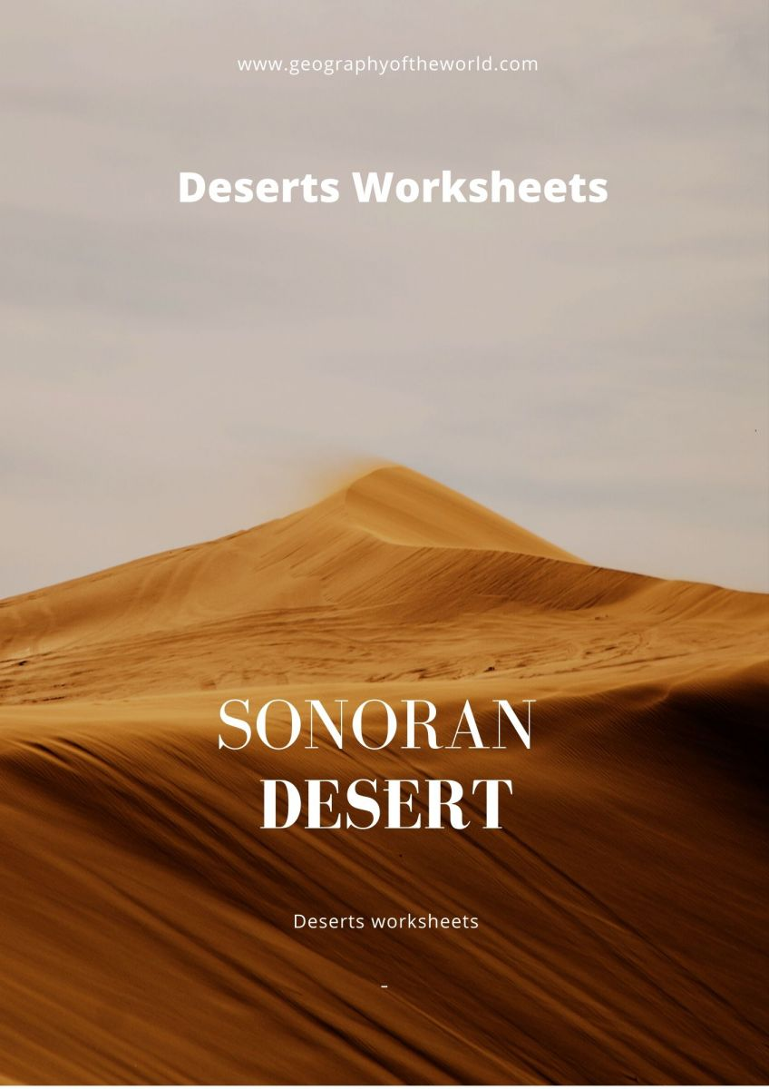 The Sonoran desert facts printable worksheet pdf